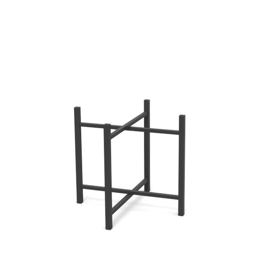 Short Black Steel Table Leg