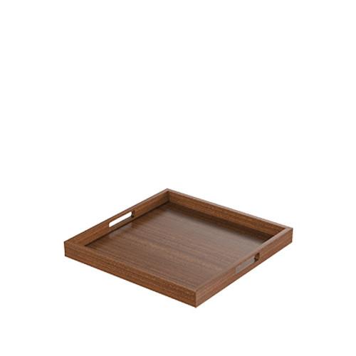 Mahogany Square Modern Tray
