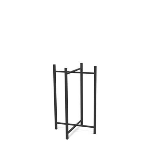 Tall Black Steel Table Leg