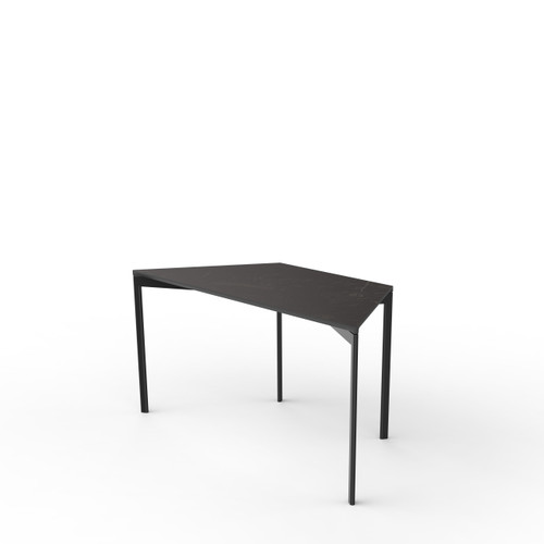 Black Marble Trapezoid Table