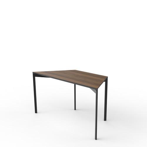 Walnut Trapezoid Table