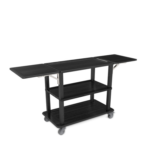 Black Trolley with Folding Sides