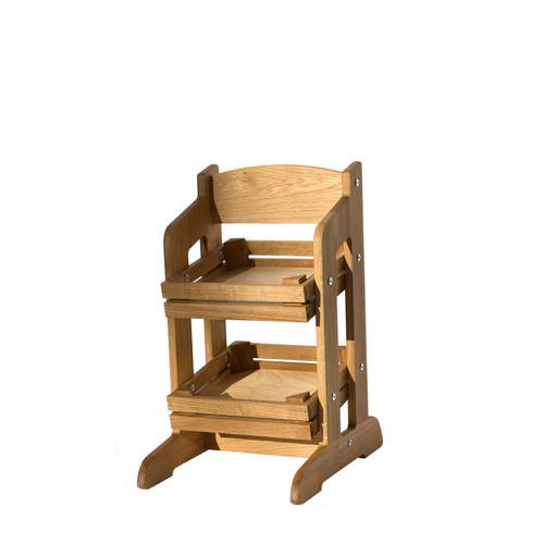 Oak 2-Tier Counter Stand