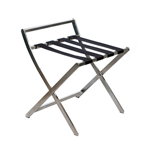 Stainless Steel Luggage Rack with Backboard