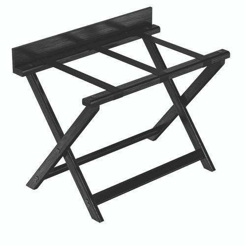 Black Luggage Rack with Backboard