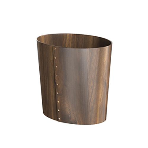 Birch Stained Walnut Luxury waste paper bin
