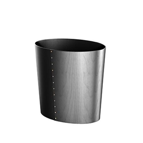Birch Stained Black Luxury waste paper bin