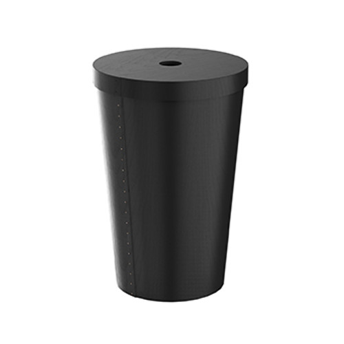 Conical Birch Stained Black laundry bin