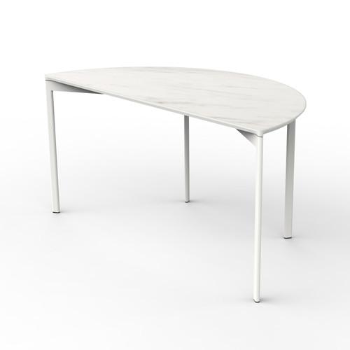 White Marble Half Round Table