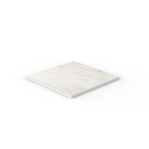 White Marble Reef Edge Square Table Top