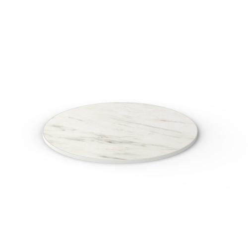 White Marble Reef Edge Round Table Top