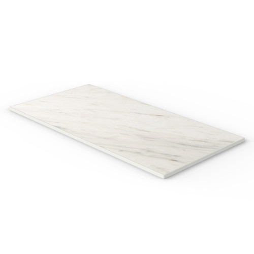 White Marble Reef Edge Rectangle Table Top