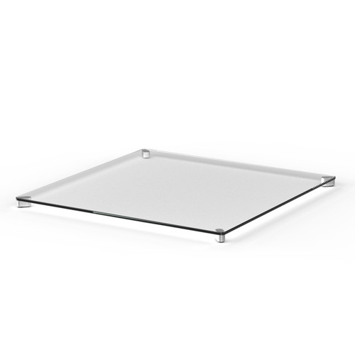 Square glass table