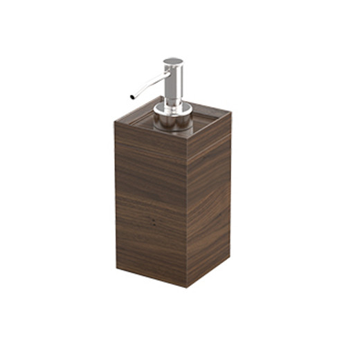 Walnut Soap and Sanitiser Dispenser