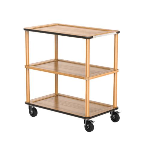 Oak Modern Tray Trolley