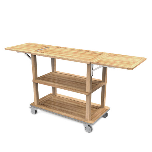 Oak Trolley with Folding Sides