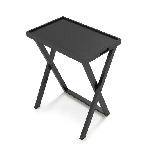 Black Folding Tray Table