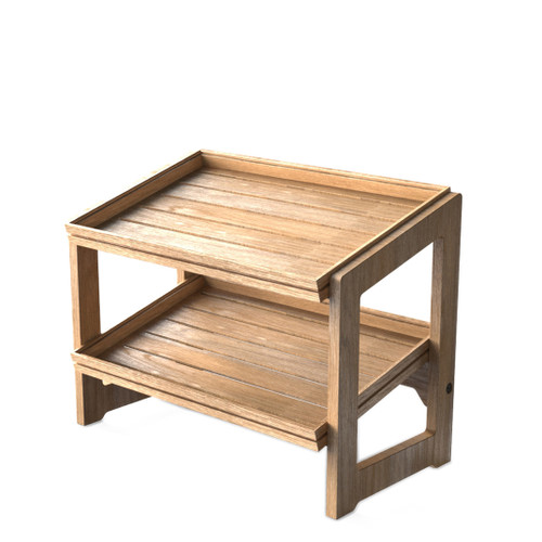Oak 1.1 2-Tier Stand