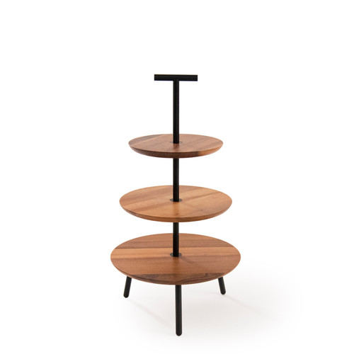 Walnut 3-tier cake stand