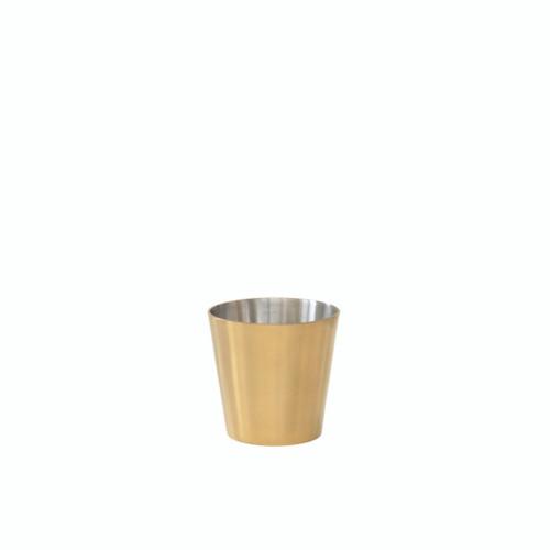 Brass chip pot