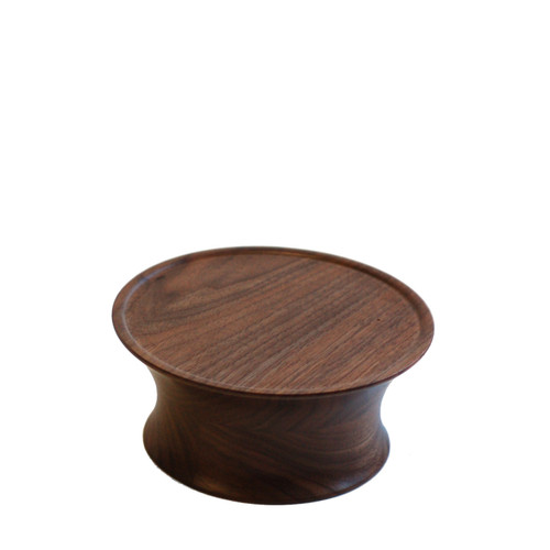 Walnut Drum Cake Stand