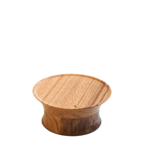 Oak Drum Cake Stand