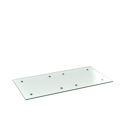 Clear Glass Rectangle Table Top