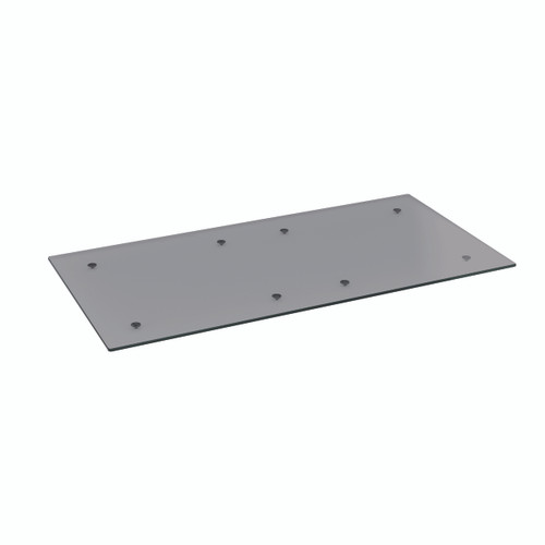 Grey Glass Rectangle Table Top