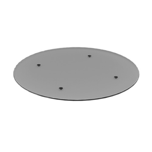 Grey Glass Round Table Top