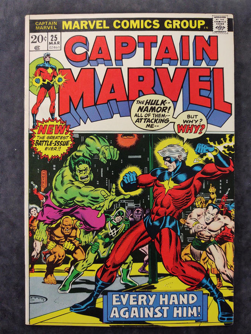 Captain Marvel #25 Marvel Comics Comic Book 1973 (2nd appearance of Thanos)