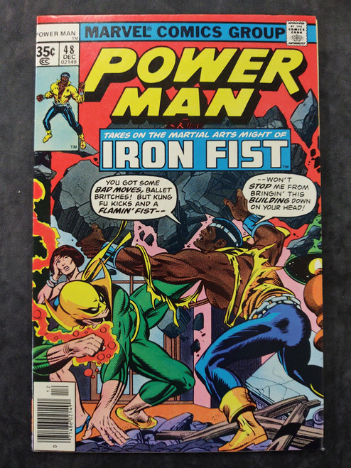 Power Man #48 Marvel Comics Comic Book 1977 (1st meeting between Power Man (Luke Cage) and Iron Fist (Danny Rand) )