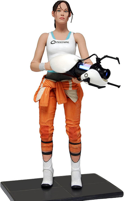 "Portal 2 - 7"" Scale Action Figure - Chell with Light-Up ASHPD Accessory"