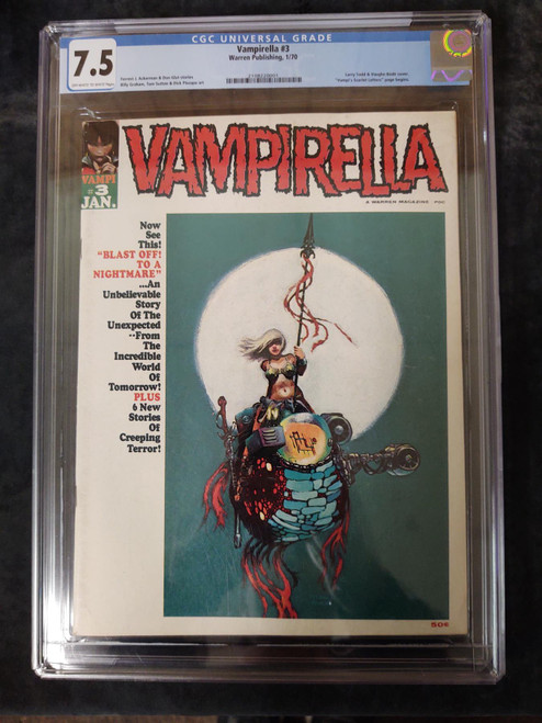 Vampirella November 1970 #3 Comic A Warren Magazine CGC 7.5