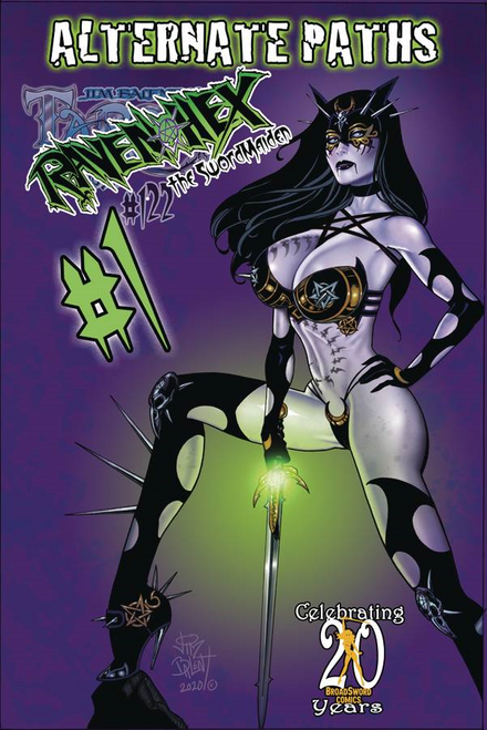 Tarot Witch Of The Black Rose #122 Alt Paths Raven Sword (Alt Paths Raven Sword) Broadsword Comics Comic Book 2020