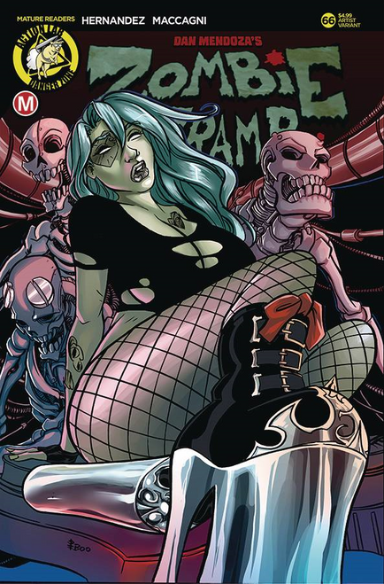 Zombie Tramp Ongoing #66 Cvr E Boo Rudetoons (Cvr E Boo Rudetoons) Action Lab - Danger Zone Comic Book