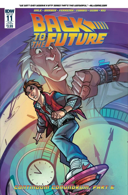 Back To The Future #11 Subscription Var (Subscription Var) Idw Publishing Comic Book