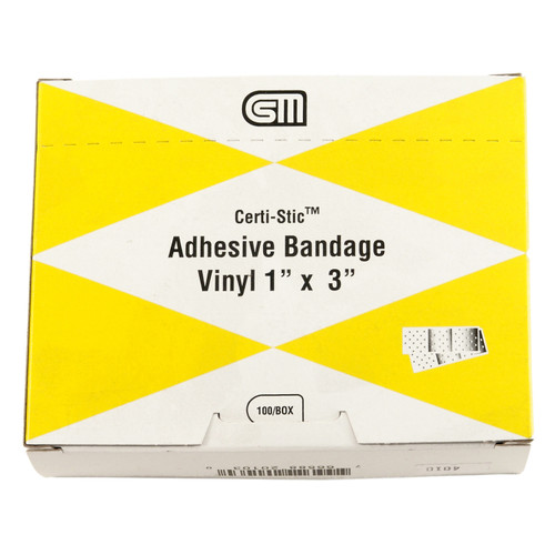 "Certi Strip Plastic Bandages, 1""x3"", 100 pack"