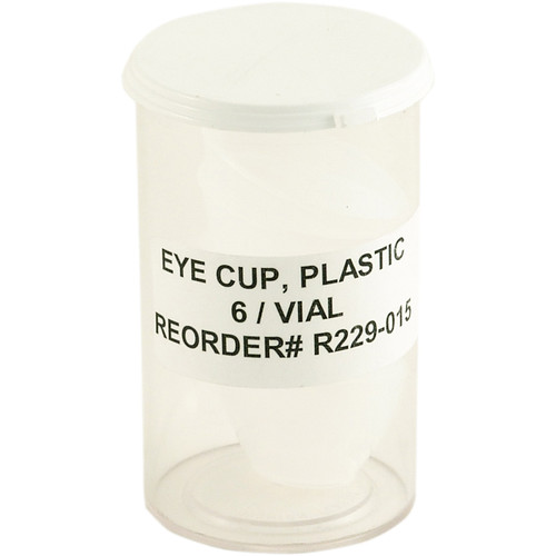 Plastic Eye Cups 6 Per Vial