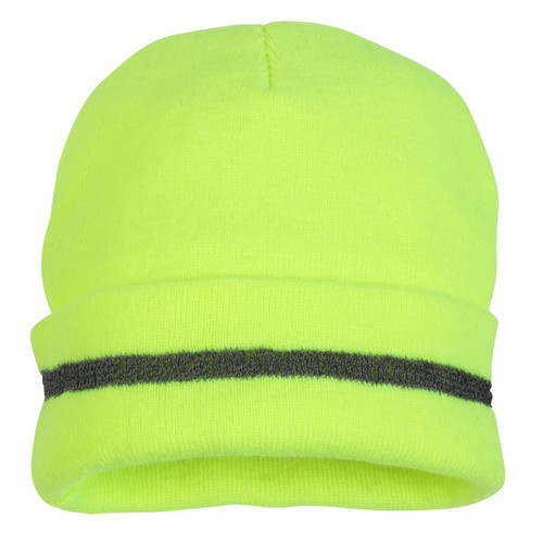 Pyramex Knit Cap with Reflective Strip-Yellow- RH110