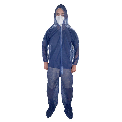 DanKleen Hooded and Booted SMS Coverall Suit with Elastic Wrists -21122 - Size Large