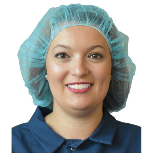 100 Pack Sanitary Bouffant Protective Head Covering- PP2MC