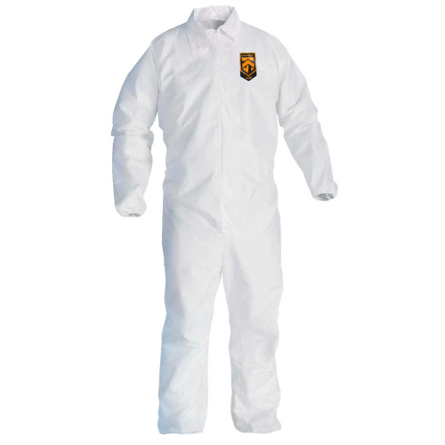KleenGuard A40 Liquid & Particle Protection Coveralls with Elastic Wrists and Ankles: 37695 - Size XL