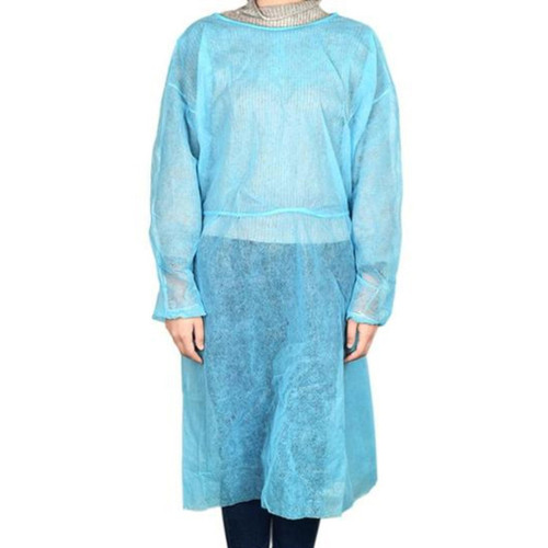 One-size Fluid Resistant Double Tie Isolation Gown