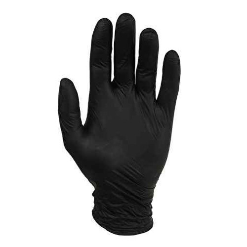Nitrile Disposable Gloves - Black- Powder Free - Box of 100