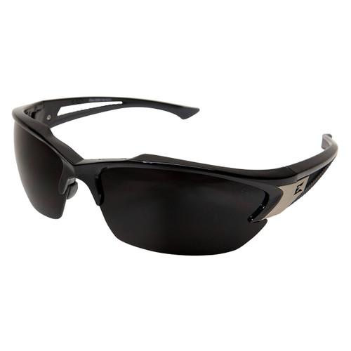 Edge Khor Safety Glasses with Black Frame - Smoke Lens