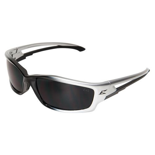 Edge Kazbek Safety Glasses with Black Frame - Smoke Lens