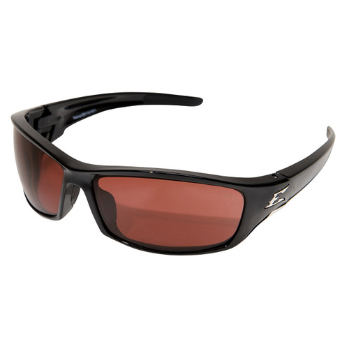 Edge Reclus Safety Glasses with Black Frame - Copper Lens