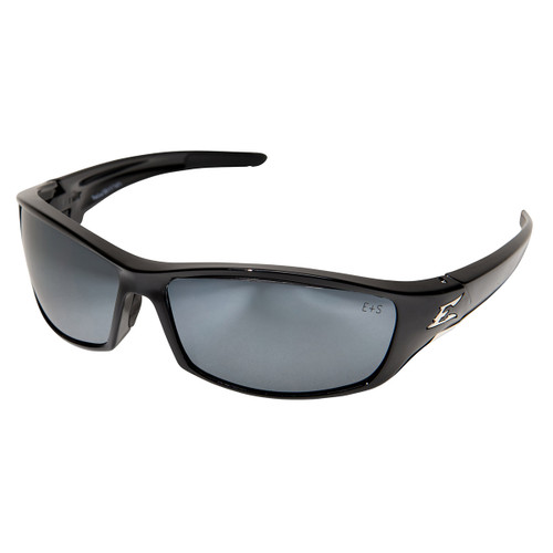Edge Reclus Safety Glasses with Black Frame - Silver Mirror Lens