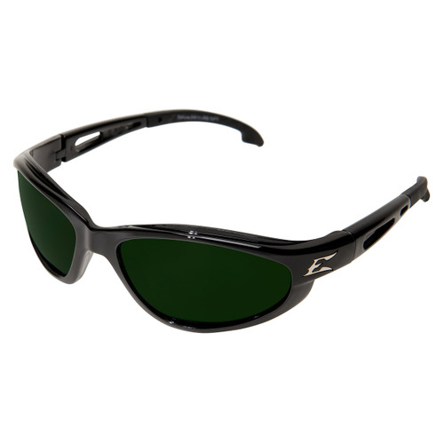 Edge Dakura Safety Glasses w Black Frame - IR 5 M Welding Lens