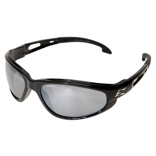 Edge Dakura Safety Glasses with Black Frame - Silver Mirror Lens
